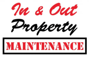 in and out property maintenance logo, dayton handyman service